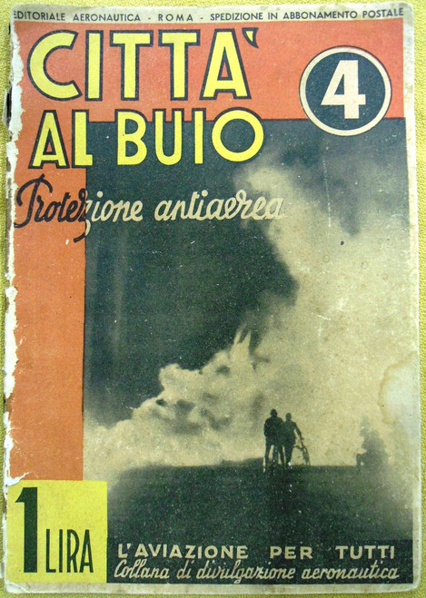 """Italian WWII """"City in the Dark: Air Defense"""" Pamphlet"""