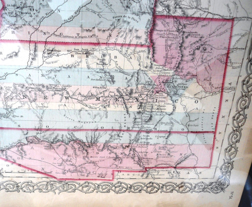 Map of the Western Territories by Colton 1854