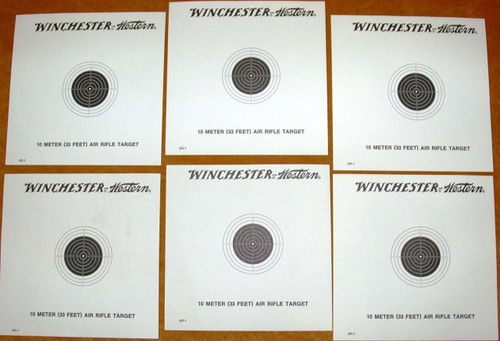 Winchester-Western 10 Meter Air Rifle Targets - Lot of 15