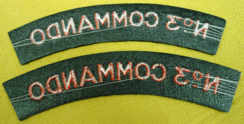 British No. 3 Commando Tabs