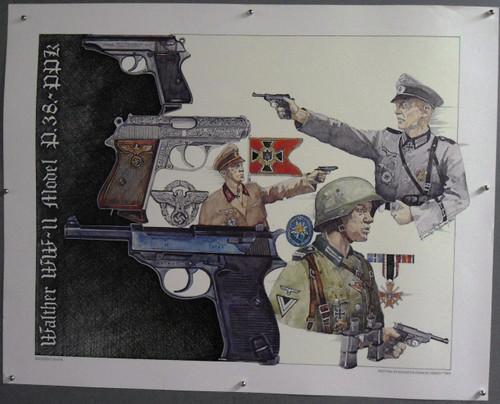 """Kenneth Francis Dewey """"Walther P.38-PPK"""" Print"""