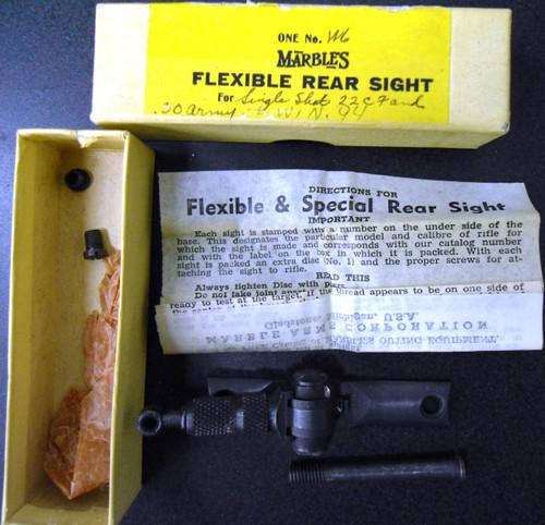 Marble's Flexible Rear Sight w/Original Box