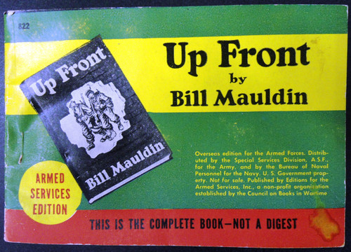 Up Front by Bill Mauldin - Armed Services Edition