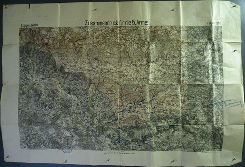 German 1918 Stages of Territory Map
