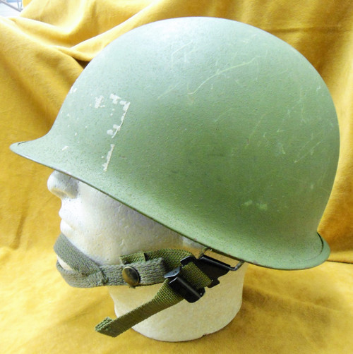 U.S. Post War Swivel Bale Helmet w/Liner & Chinstrap