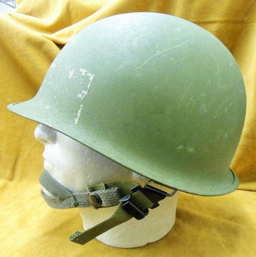 U.S. Post War Swivel Bale Helmet w/Liner & Chinstrap