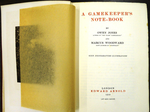 A Gamekeeper's Note Book by O. Jones & M. Woodward