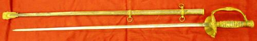 U.S. Model 1860 Staff & Field Officer's Sword w/Scabbard
