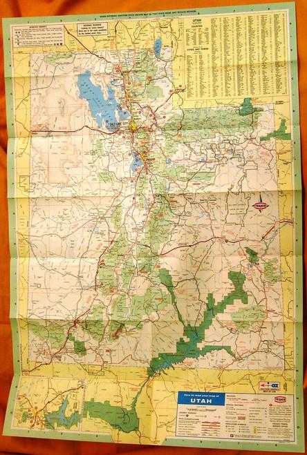 Utah Texaco Map 1973