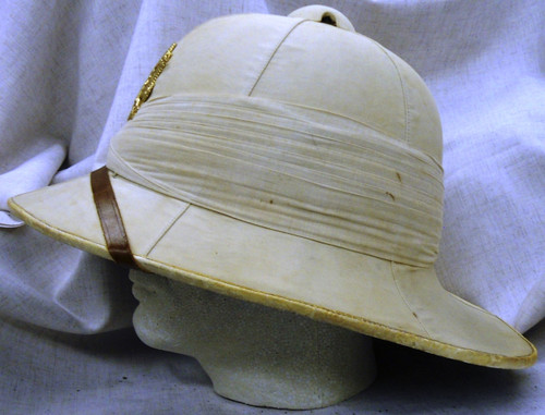 British Pith Helmet w/Vietnam Era American Hat Badge