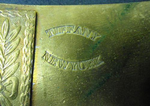 Tiffany New York Denver & Rio Grande RR Brass Buckle circa mid-1960's