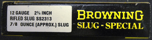 Browning Slug Special 12 ga. Shotgun Shells Box and Ammo