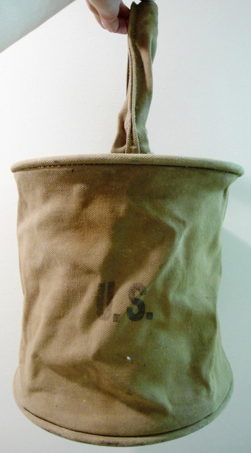 U.S. WWI Army Canvas Water Bucket