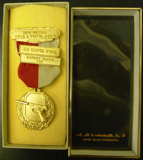 New Mexico 1961 Rifle & Pistol Association Medal w/Box