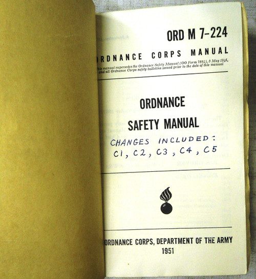 ORD M7-224 Ordnance Safety Manual - 1951