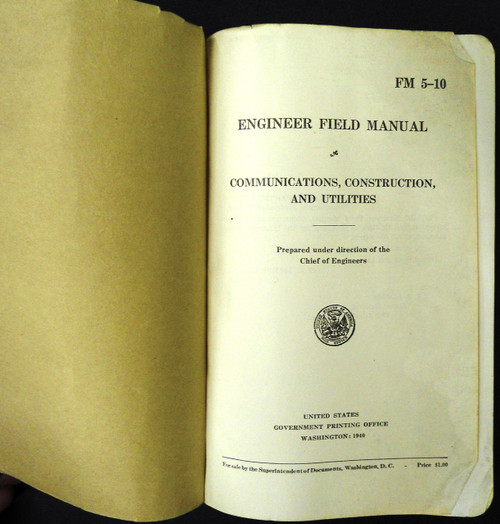 FM 5-10 Engineer Field Manual 1940