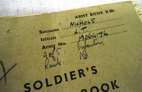 British WWII Soldier's Release Book & Related Pamphlets - Named