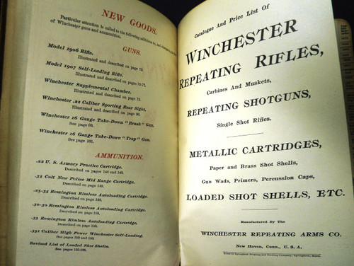 Winchester Catalog No. 73 * 1907 - Salesman's Copy