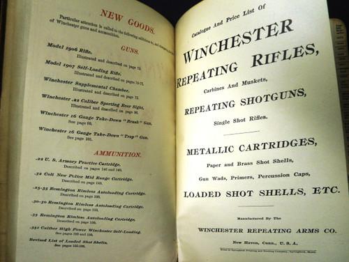 Winchester Catalog No. 73 * 1907 - Salesman's Copy