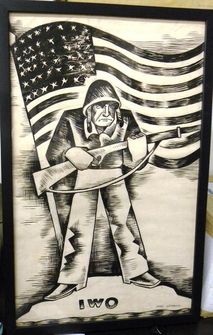 John Lembach WWII Propaganda Poster/Drawing