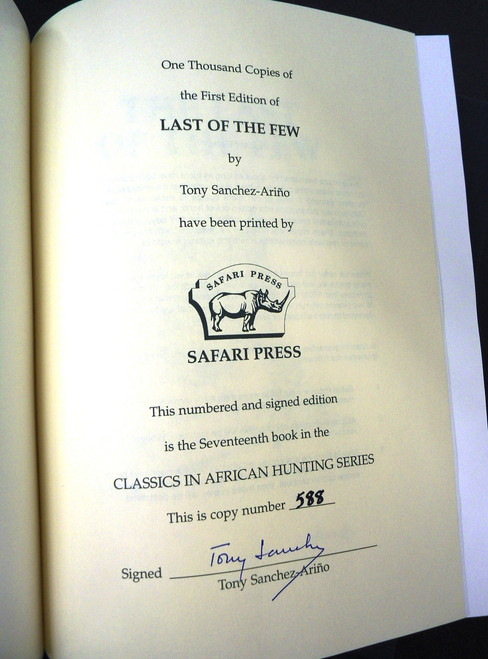 The Last of the Few by Tony Sanchez-Arino *SIGNED*