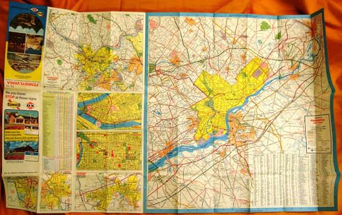 Sunoco - DX - Sun Oil Company Pennsylvania Road Map 1973