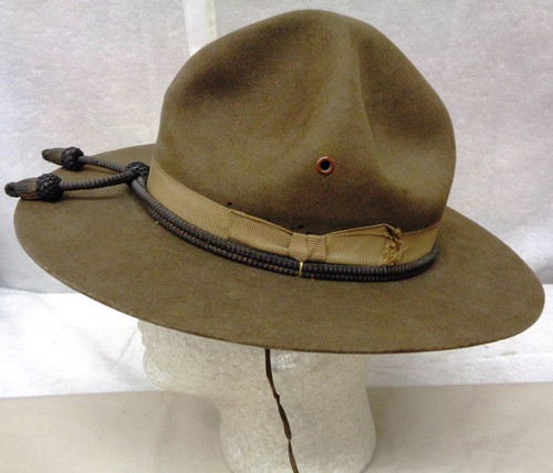 U.S. Campaign Hat Private Purchase Stetson w/Officer's Cord