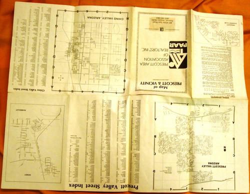 Map of Prescott & Vicinity 1989