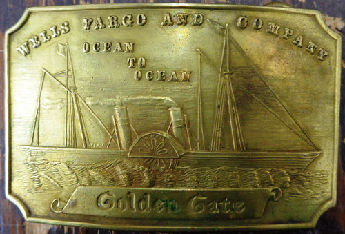 Tiffany New York Golden Gate Brass Buckle circa mid-1960's