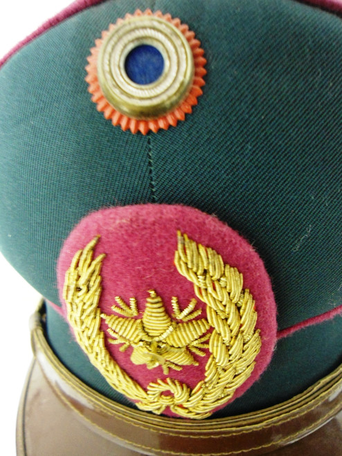 Paraguay Army Officers Visor Cap w/Hat Badge & Cockade