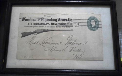 Framed 1898 Winchester Envelope