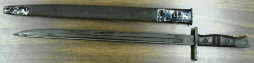 British P1913 Remington Bayonet w/Leather Scabbard