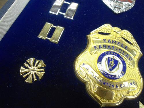 Salesman's Sample Case of Police Badges