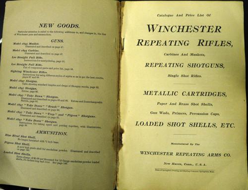 Winchester Catalog No. 63 February 1899