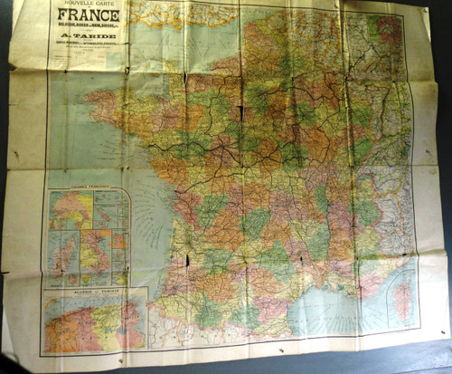 French Civilian Touring Map circa Early 1900's