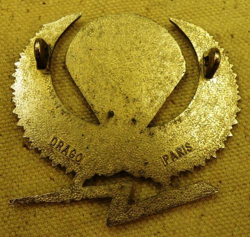 Gabon Para Wings Hat Badge circa 1945 - 1975