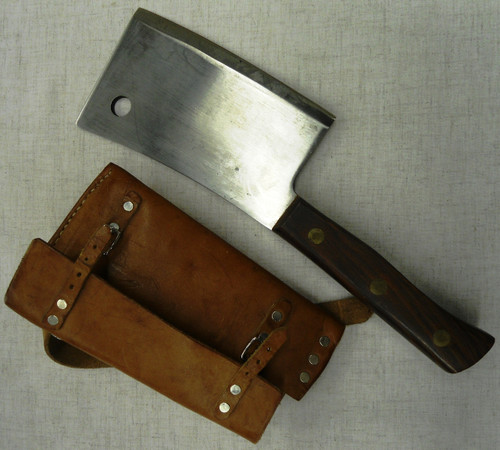Foster Bros. Cleaver 1207 with Leather Sheath
