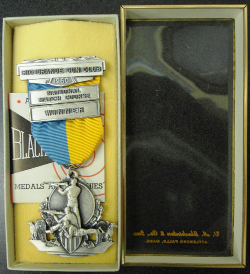Rio Grande Gun Club 1960 National Match Course Winner Medal