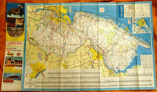Sunoco - DX - Sun Oil Company New Jersey Road Map 1973