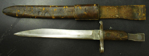 Canadian Ross Rifle M1910 Modified Bayonet w/Scabbard