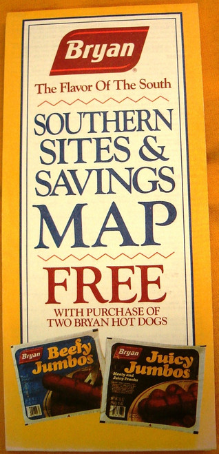 Bryan Southern Sites & Savings Map 1991