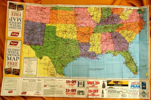 Bryan Southern Sites & Savings Map 1991
