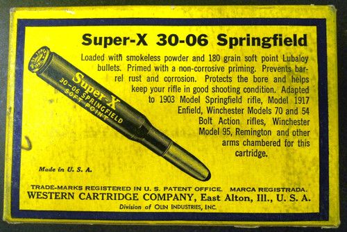 Western Super-X 30-06 Springfield CF Cartridge Box & Ammo