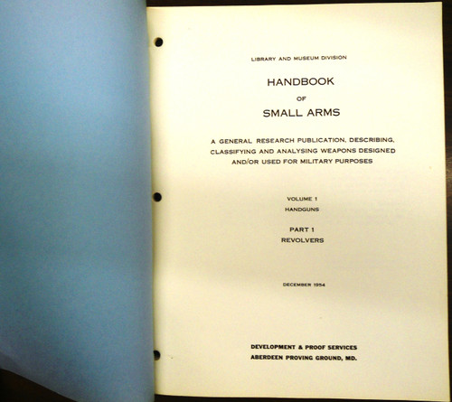 Handbook of Small Arms: Handguns: Revolvers