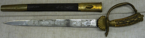 W.K. & C. Hunting Sword Hirschfanger