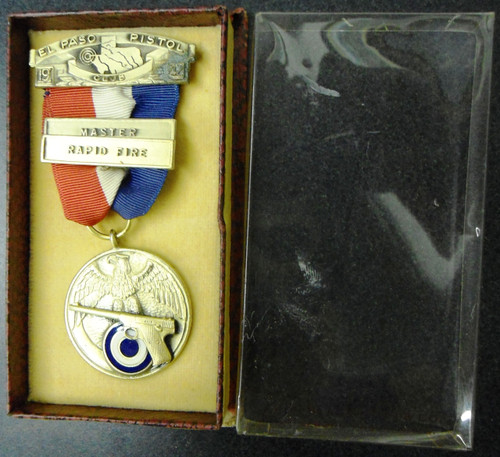 El Paso Pistol Club 1942 Master Rapid Fire Medal with Box
