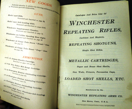 Winchester Catalog No. 73 January 1907