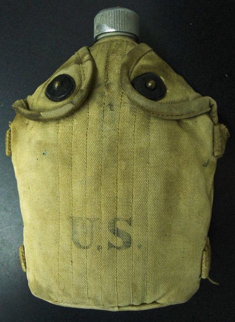 U.S. M1917 Mounted Cavalry Canteen with Cup & Canvas Cover