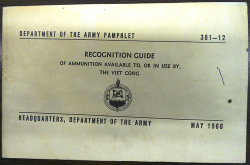 Department of the Army Pamphlet 381-12 Recognition Guide