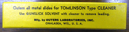 Tomlinson Type Cleaner Slides - 12 gauge